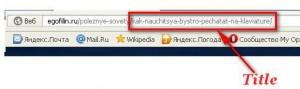 сео текст в браузере