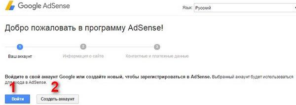 google-adsense-vhod